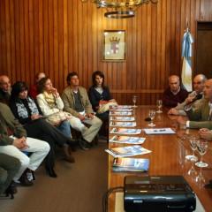 El Intendente Hernando suscribió cinco convenios para importantes obras