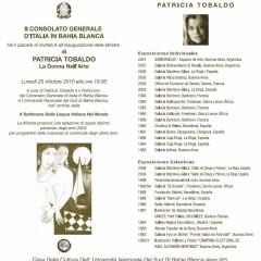 Patricia Tobaldo expondrá en Bahía Blanca