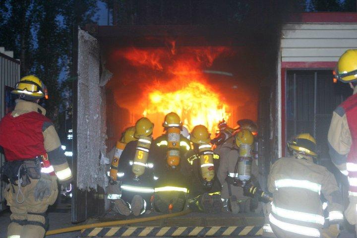 Curso de Incendios Estructurales, al cual concurrio Augusto Celerier