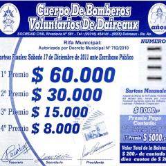 Gran Rifa Anual Bomberos Voluntarios Daireaux