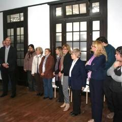 El Intendente Hernando visitó la sede del CRUD y la Biblioteca