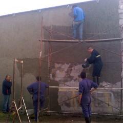 Continúan los trabajos en la nueva cochera de Bomberos