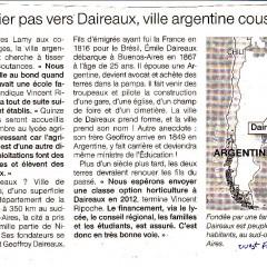 Un primer paso hacia Daireaux, ciudad argentina prima