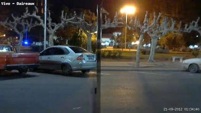 Uno de los móviles afectados al operativo, capturado por la Webcam de Deroweb