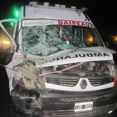 Una ambulancia de Daireaux protagonizó un choque en cadena