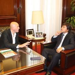 Hernando mantuvo un encuentro con Acerbo por Expo-Daireaux