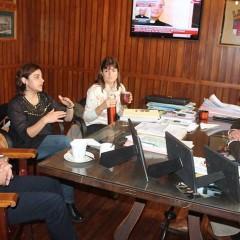 El Intendente Hernando se reunió con la presidente del Consejo Escolar