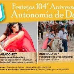 104° Aniversario de la Autonomía Distrital