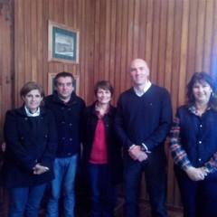 El Intendente recibió a la delegada y a las autoridades de la escuela Las Margaritas