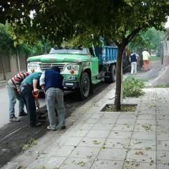 Comenzó la obra de repavimentación de la calle Sarmiento