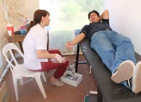 Exitosa jornada de colecta de sangre en la plaza San Martín