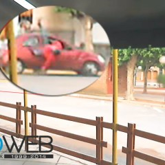 La Webcam de Deroweb capta accidente en Mitre y Pelegrini