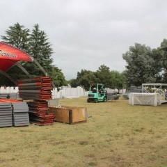 Preparativos en el predio de la Fortinera Deroense 2015