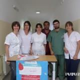 Campaña de donacion de sangre en Salazar