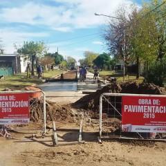 El Intendente Hernando supervisó la obra de pavimentación